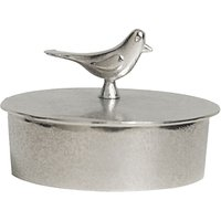 Lancaster and Gibbings Bird Jewellery Box, Medium, Silver
