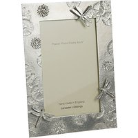Lancaster and Gibbings Pewter Dragonfly Photo Frame, Silver, 6 x 4 (15 x 10cm)
