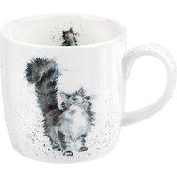 Royal Worcester Wrendale Tabby Cat Mug, Multi, 310ml