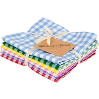 House of Alistair Gingham Mix Fat Quarter Fabrics, Pack of 6