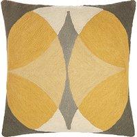John Lewis Oculus Cushion, Citrine / Grey