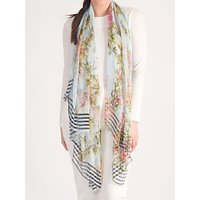 Chesca Floral Beaded Scarf