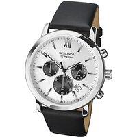 Sekonda Mens Chronograph Date Leather Strap Watch