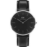 Daniel Wellington Unisex Sheffield Leather Strap Watch