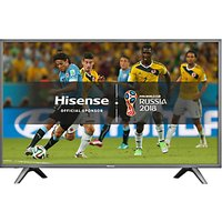 Hisense H49N5700 LED HDR 4K Ultra HD Smart TV, 49 with Freeview HD, Dark Grey