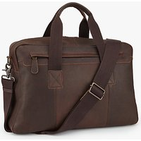 John Lewis Toronto Leather Holdall, Brown