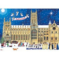 Alison Gardiner Christmas Cathedral Advent Calendar Card