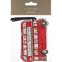 John Lewis Seasons Greetings Bus Gift Tags, Pack of 4