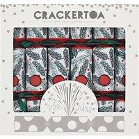 Crackertoa Pine Needle Christmas Crackers, Pack of 6, Red/Green