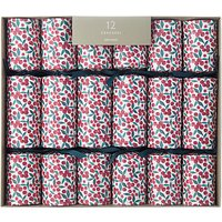 John Lewis Ditsy Berry Christmas Crackers, Pack of 12, White