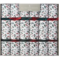 John Lewis Folklore Cranberry Fill Your Own Christmas Crackers, Pack of 6