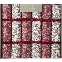 John Lewis Highland Myths Oak Christmas Crackers, Pack of 12, Red/White