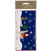 John Lewis Lima Llama Christmas Money Wallet, Pack of 2, W10 x L19.5cm Multi