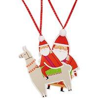 John Lewis Lima Llama Santa Die Cut Gift Tags, Pack of 2