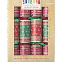 John Lewis Lima Llama Musical Xylophone Christmas Crackers, Pack of 8