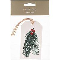 John Lewis Pine Needles Gift Tags, Pack of 4