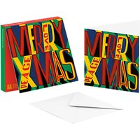 ArtPress Merry Christmas Cards, Pack of 10