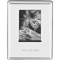 kate spade new york Darling Point Mr & Mrs Photo Frame, Silver