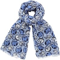 John Lewis Napping Cats Scarf, Blue Mix