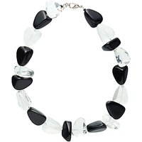 Jackie Brazil Flintstone Necklace, Black/Clear