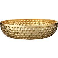 John Lewis Fusion Hammered Aluminium Bowl, Gold