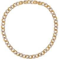 Susan Caplan Vintage 1980s DOrlan 22ct Gold Plated Swarovski Crystal Necklace, Gold/Clear