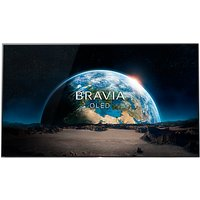 Sony Bravia KD55A1 OLED HDR 4K Ultra HD Smart Android TV, 55 with Freeview HD, Youview, Acoustic Surface & One Slate Design, Black