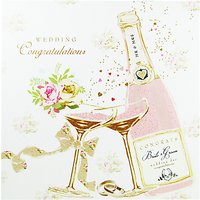 Cardmix Champagne Bottle Wedding Card