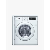 Neff W544BX0GB Integrated Washing Machine, 8kg Load, A+++ Energy Rating, 1400rpm Spin, White