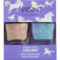 Nails Inc Sparkle Like a Unicorn Nail Polish Duo Kit, 2 x 14ml