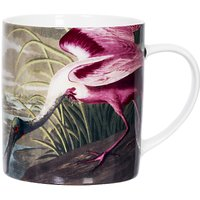 Magpie Spoonbill Small Mug, Pink/White