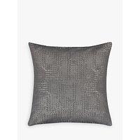 John Lewis Loki Squares Cushion, Steel