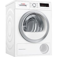Bosch WTM85230GB Condenser Tumble Dryer with Heat Pump, 8kg Load, A++ Energy Rating, White