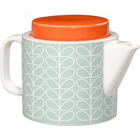 Orla Kiely Linear Stem Teapot, Duck Egg