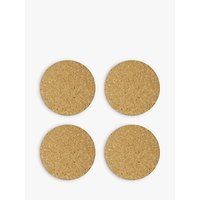 House by John Lewis Cork Coasters, Set of 4