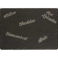 Just Slate Etched Cheese Board, Black
