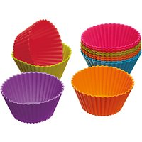 Colourworks Reusable Silicone Cup Cake Cases, Set of 12, Assorted