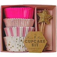 Meri Meri Star Cupcake Kit, Pink/Gold