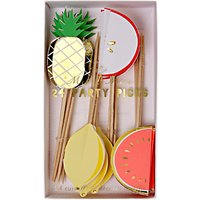 Meri Meri Fruit Party Pick Toppers, Set of 24