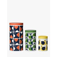 Orla Kiely Animal Canisters, Set of 3, Multi