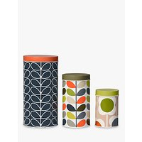 Orla Kiely Flower Canisters, Set of 3, Multi