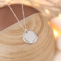 Merci Maman Personalised Edge Charm Pendant Necklace