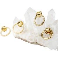 Missoma 18ct Gold Vermeil Magma Hoop Earrings, Gold