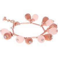 Ted Baker Perses Mini Plisse Swarovski Crystal Drop Bracelet, Rose Gold