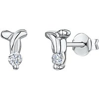 shop for Jools by Jenny Brown Cubic Zirconia T Stud Earrings, Silver at Shopo