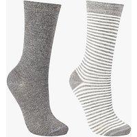 John Lewis Stripe Ankle Socks, Pack of 2