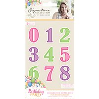 Crafters Companion Birthday Party Fun With Numbers Metal Dies, Pack of 9