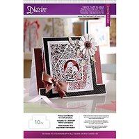Crafters Companion Diesire Fancy Card Blanks, Square Centre Step Card, Pack of 10, White