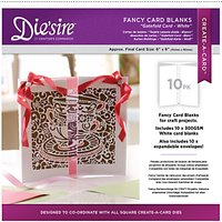 Crafters Companion Diesire Fancy Card Blanks, Gate Fold Cards, Pack of 10, White