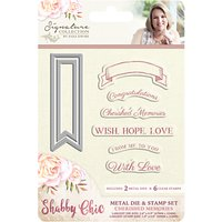 Crafters Companion Shabby Chic Die and Stamp Set, Pack of 8